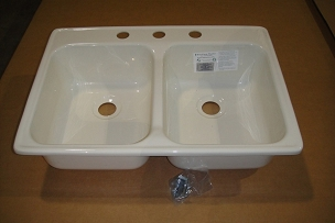24 x 17 Double Bowl Sink