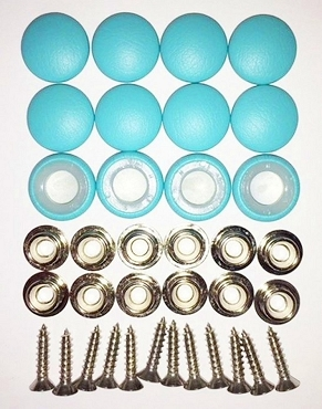 12 Pieces Durasnap Buttons - Aqua Mist