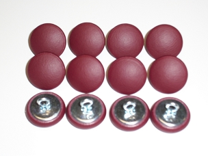 12 Pieces Wire Eye Button - Burgundy