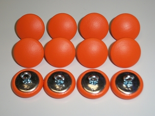 12 Pieces Wire Eye Button - Bright Orange