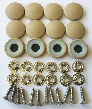12 Pieces Durasnap Buttons - Parchment