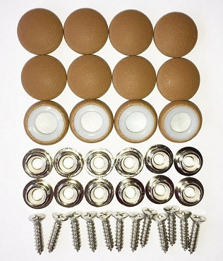 12 Pieces Durasnap Buttons - Pecan