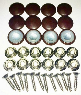 12 Pieces Durasnap Buttons - Sienna Brown