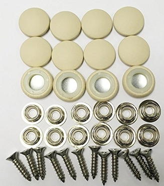 12 Pieces Durasnap Buttons - Vanilla