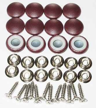 12 Pieces Durasnap Buttons - Wine