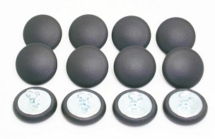 12 Pieces Wire Eye Button - Dark Charcoal