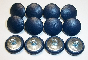 12 Pieces Wire Eye Button - Navy Blue