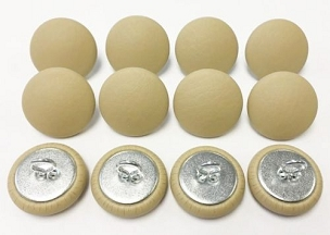 12 Pieces Wire Eye Button - Parchment