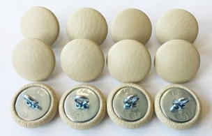 12 Pieces Wire Eye Button - Sand