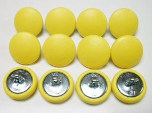 12 Pieces Wire Eye Button - Bright Yellow