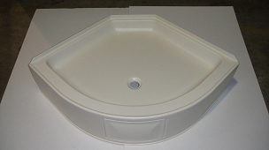 32 x 32 Curved Front Shower Pan
