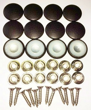 12 Pieces Durasnap Buttons - Dark Espresso