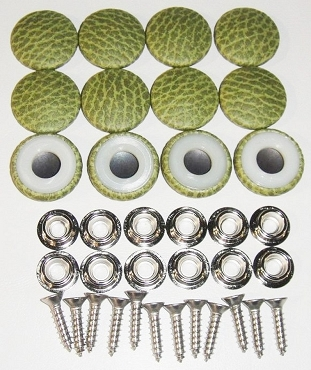 12 Pieces Durasnap Buttons - Reptile Green