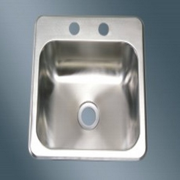 15 x 15 Single Bowl Stainless Steel Sink