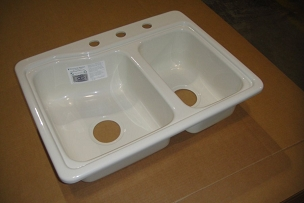 25 x 19 Double Bowl Sink