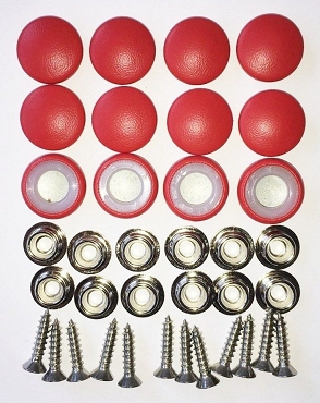 12 Pieces Durasnap Buttons - Bright Red