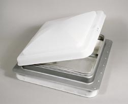 14 x 14 Manual Roof Vent With White Lid