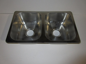 27 x 16 Double Bowl Stainless Steel Sink