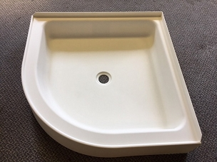 27 x 27 Curved Front Corner Shower Pan