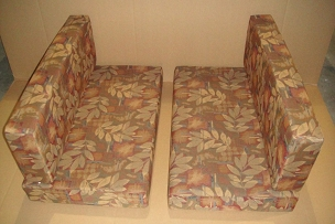 Set Of 4 Complete Square Back Dinette Cushions