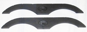Pair Dual Axle Fender Skirts