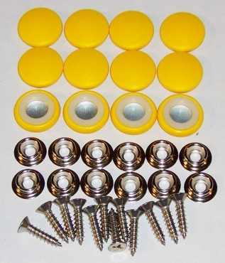 12 Pieces Durasnap Buttons - Bright Yellow