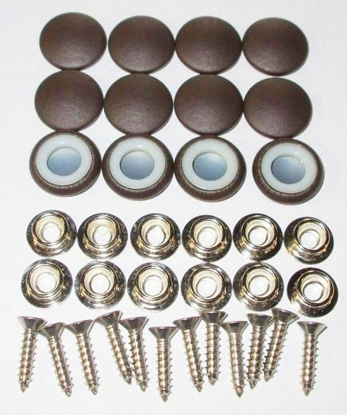 12 Pieces Durasnap Buttons - Chocolate Brown