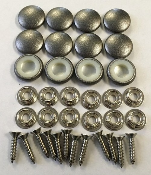 12 Pieces Durasnap Buttons - Metallic Pewter
