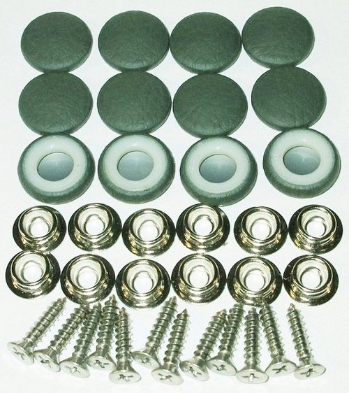 12 Pieces Durasnap Buttons - Pine Green