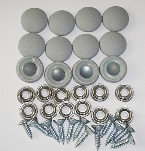12 Pieces Durasnap Buttons - Platinum