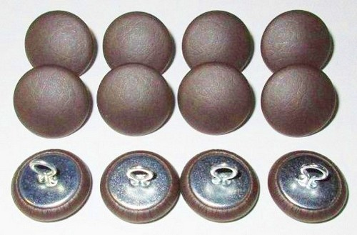 12 Pieces Wire Eye Button - Chocolate Brown