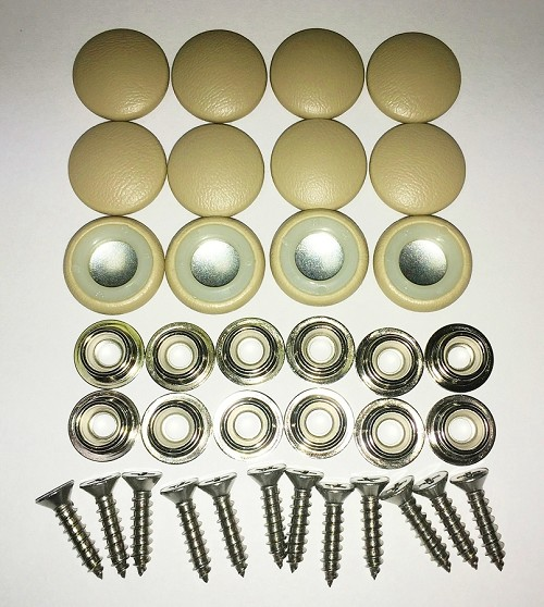 12 Pieces Durasnap Buttons - Light Sage Green