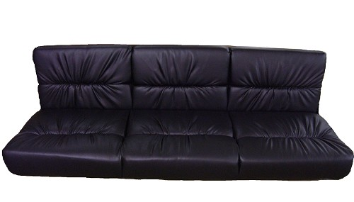 72' Xtreme Style Jack Knife Sofa Black Vinyl - IN STOCK SPECIAL